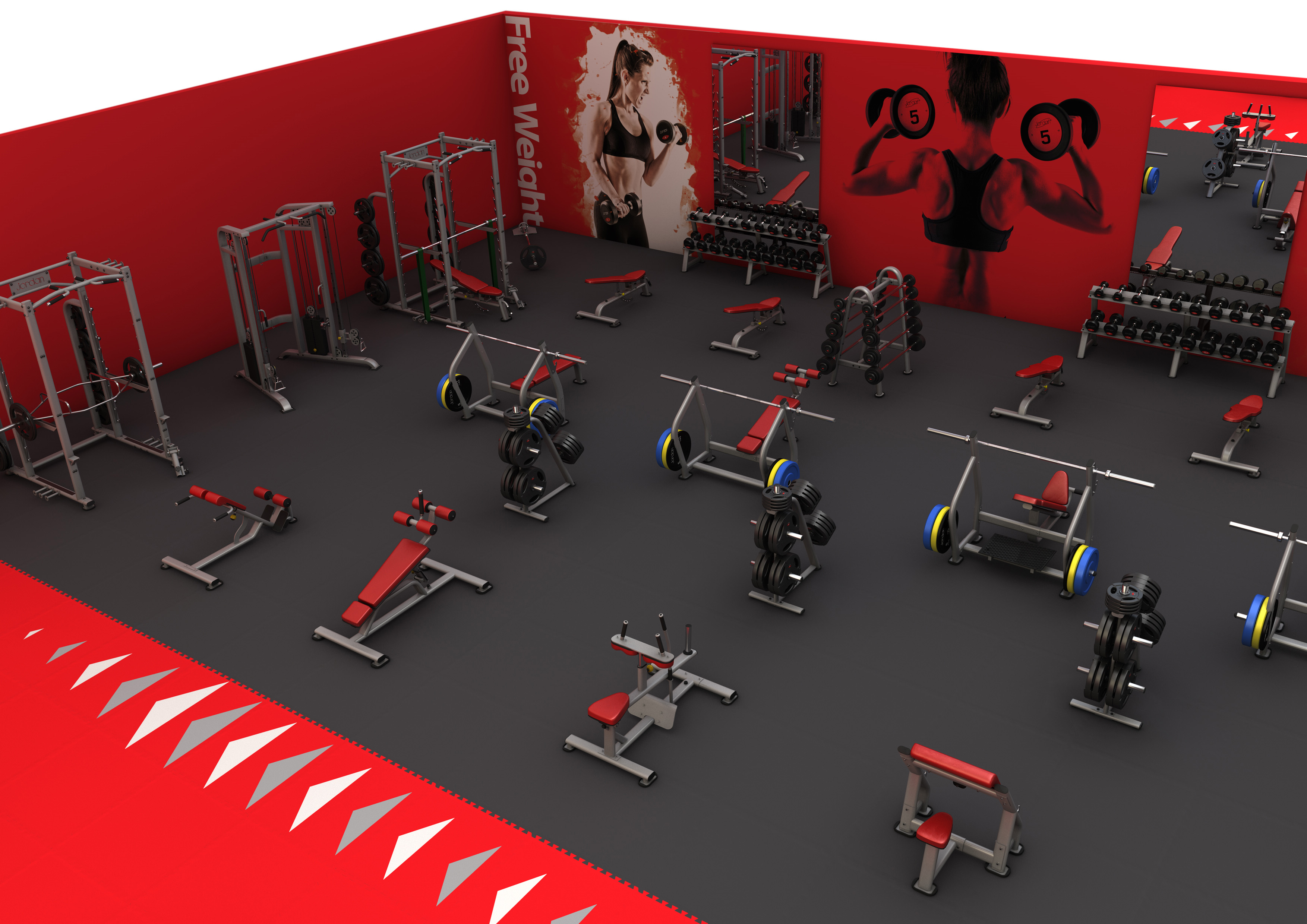 Fitness and gym equipment parts servicing and repairs for Free gym layout design